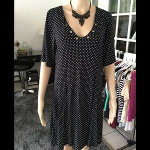 Brand new!Polka dot size large knee length dress
